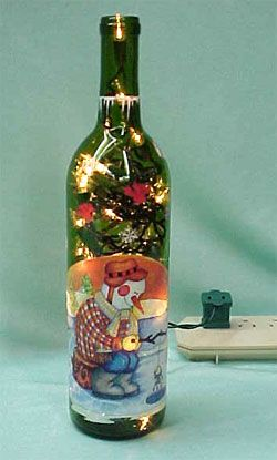 17 images about crafting glass glassware and jars for Lighted wine bottle craft
