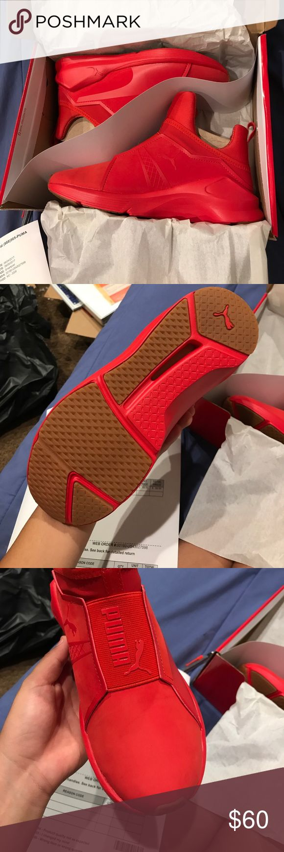 Puma fierce red 6 Women Brand new Red Fierce pumas size 6 their 100% authentic I have a pic of the receipt. I'm selling them cheaper than the actual Puma website. don't forget to check out the rest of my closet and to bundle it'll be cheaper.  Puma Shoes