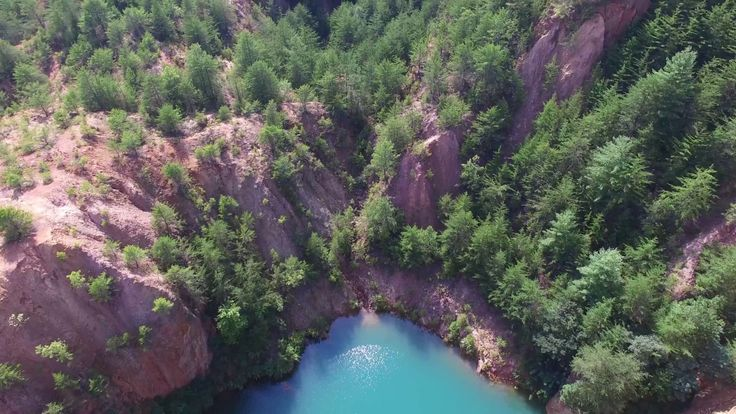 Turquoise Lake - 4k Aerial Drone Stock Video