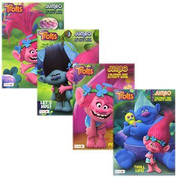 Dreamworks Trolls Jumbo Coloring and Activity Books (Set of 4)