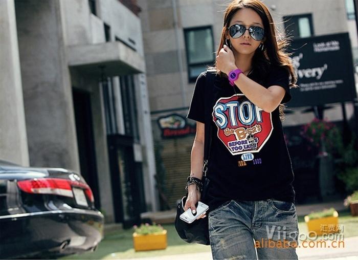 Wholesale Female T-shirt short sleeve wholesale Place for summer wear cotton on www.viigoo.com