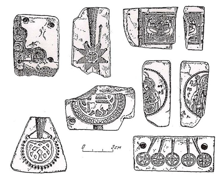 Stone molds for metal casting from various sites in Russia
