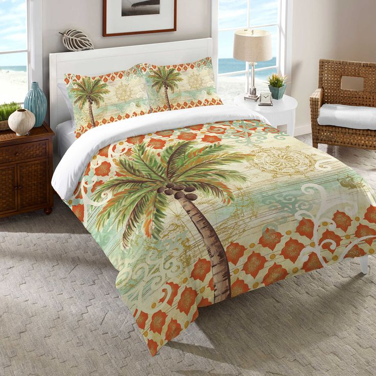 Palm Tree bedding is comfortable, attractive, and a good help to upgrade your bedroom. Families and homemakers are amazed by the charm and tastefulness of this Palm Tree bedding. Pick out the right fabric, bed size, and dimensions from the different listings to find exactly what you need.