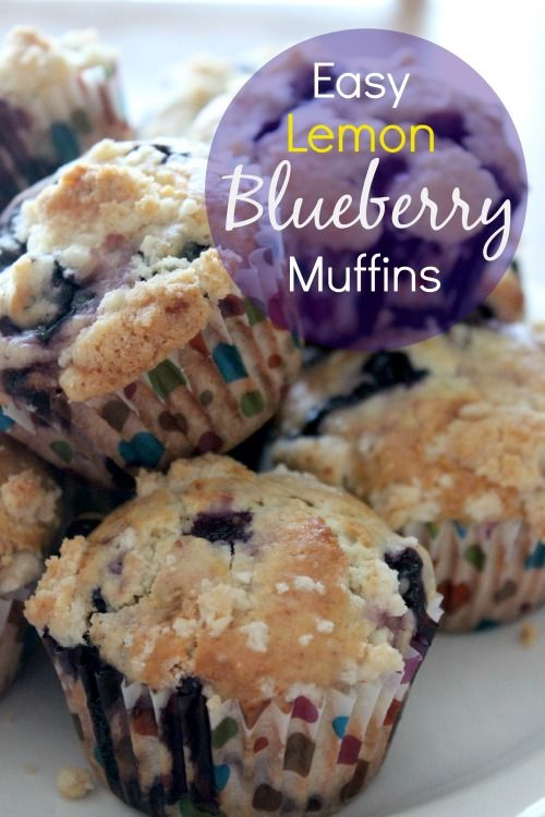 Easy Lemon Blueberry Muffins for Non-bakers made with fresh blueberries