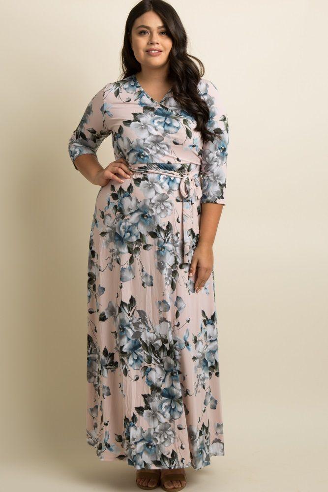 0b93851b692 Pink Floral Plus Wrap Maxi Dress | my cowgirl closet clothes i want ...