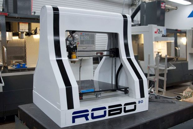 RoBo 3D - Low cost, PLA / ABS plastic, 10 x 10 x 8-inch build volume, 100-micron resolution