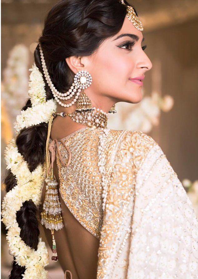 Sonam And Aanad S Grand Wedding Indian Hairstyles Indian Bridal Hairstyles Indian Wedding Hairstyles