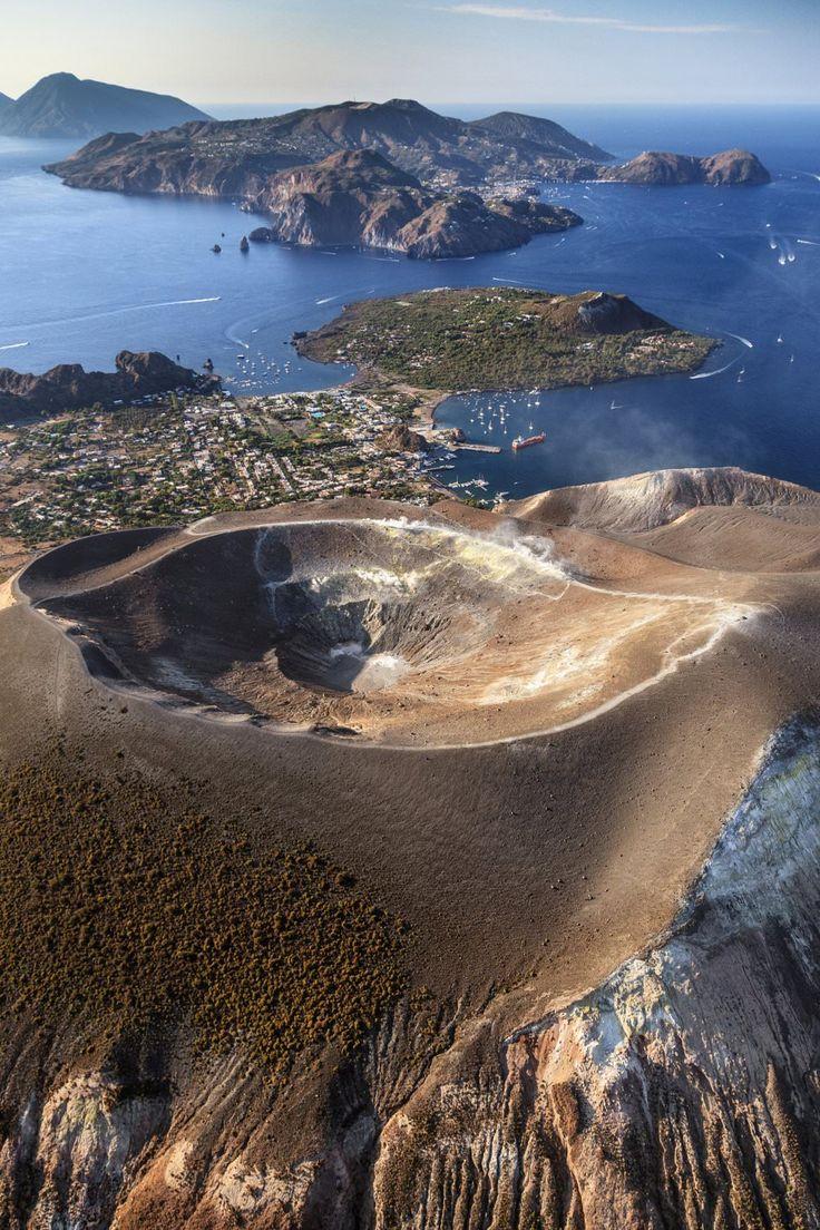 Fossa di Vulcano on the island of Vulcano, Aeolian Islands, Sicily. Destination in Gypset Travel #AssoulinePublishing http://bit.ly/1WSYvkt