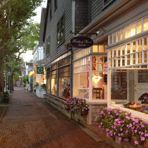 Federal Street shopping. Nantucket Island, MA.    I think Nantucket would be a fun place to visit!
