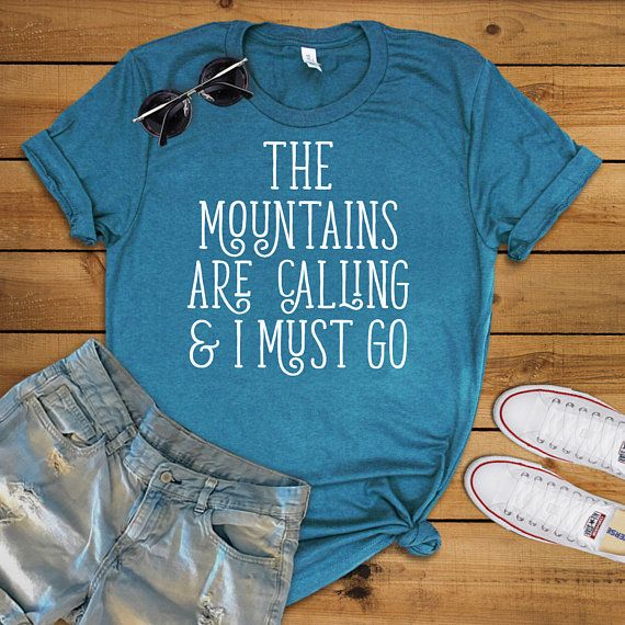 Mountains are Calling Shirt Mountain Shirt Nature Lover Gift Camping Shirt Camping Gift Mountains Shirt Summer Wanderlust Glamping Glamper by 25VintagePlace