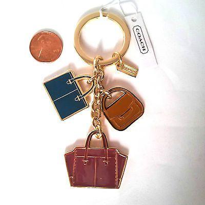Coach Red Heart Silver Locket Purse Cat Bear Key Chain Key