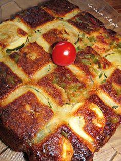 Invisible salé aux courgettes, poivron et chorizo