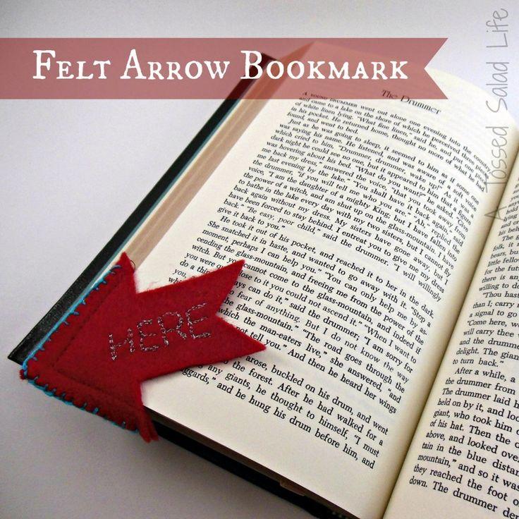 Felt Arrow Bookmark