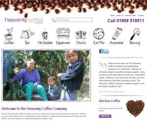 The Heavenly Coffee Company website