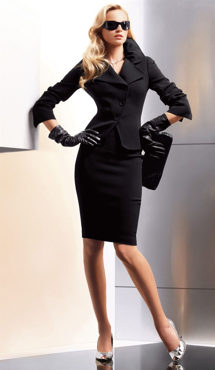 (No gloves for the interview) perfectly suited | Keep the Glamour | BeStayBeautiful - I LOVE LOVE LOVE this! minus those hideous shoes. Plain black sexy heels instead. I need a sophisticated job so I can wear this