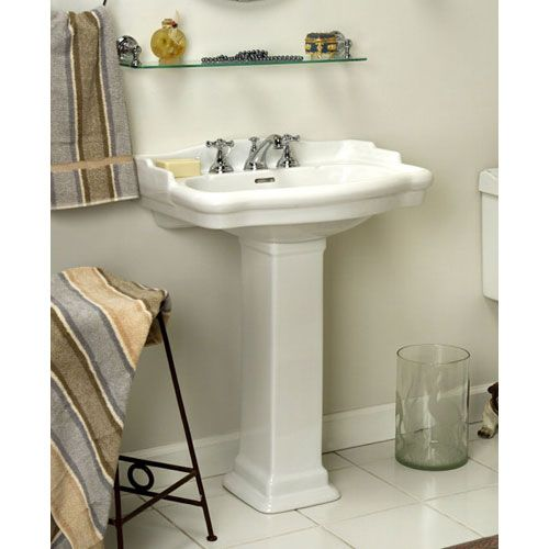 Stanford Pedestal Sink With Centers. Small For Half Bath?