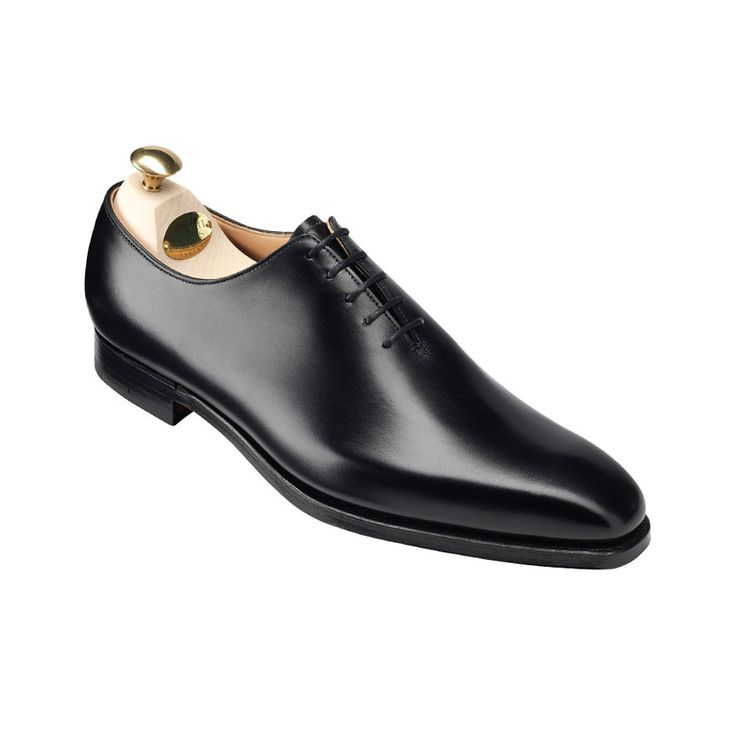 Alex in Black Calf, Men's Wholecut Shoe | Crockett & Jones