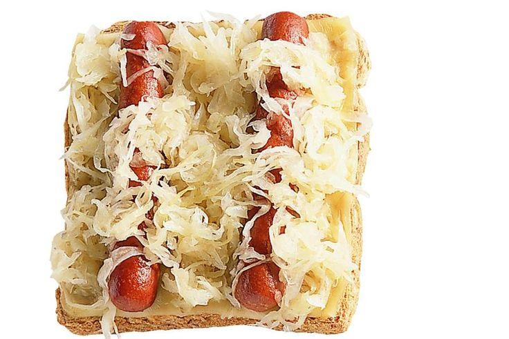 Hotdogtosti met zuurkool