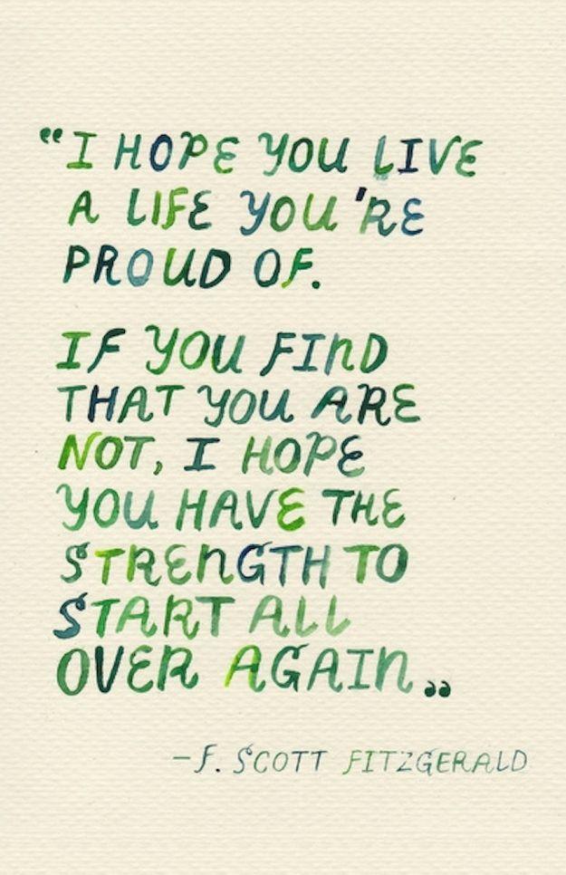 F. Scott Fitzgerald life quote