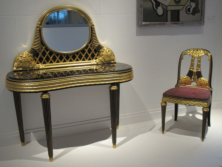 art moderne furniture. coiffeuse et chaise 1919 paul frdric follot muse du0027art moderne art furniture i