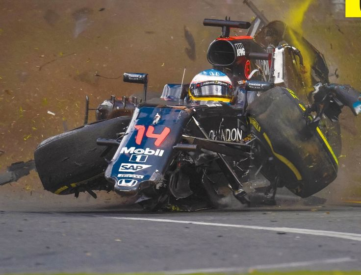 Wow... incredible image captured during Fernando Alonso's death-defying crash at the 2016 F1 Australian GP in Melbourne.