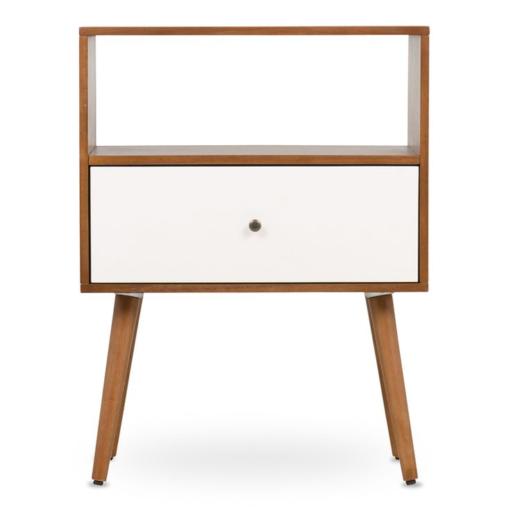 mid century pedestal one drawer white  -  @home  152201AABJ3 R 1,699.00