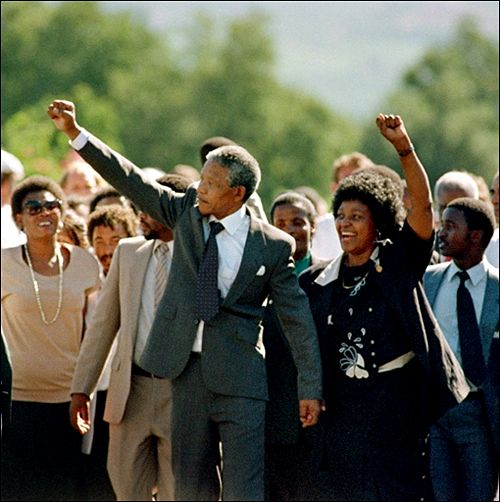 The long walk to freedom...Viva Mandela - Cape Town 1983