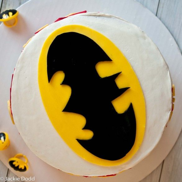 Super Simple Batman Cake with Free Printable Templates
