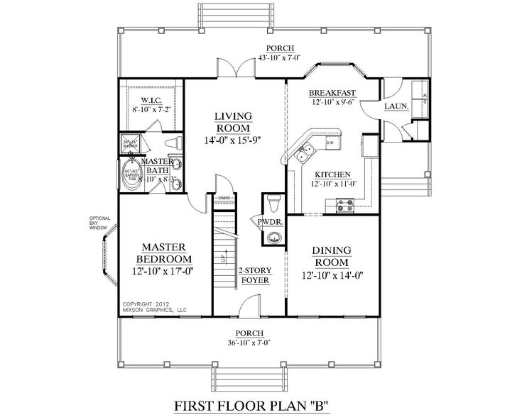 House plan 2051 b ashland first floor plan colonial for House plans with downstairs master bedroom