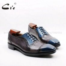 cie Square Toe Cap Toe Lace-up Oxford 100% Geniune Calf Leather Breathable Dress Men's Shoe Goodyear Welted Grey Patina OX720 //Price: $US $221.00 & FREE Shipping //