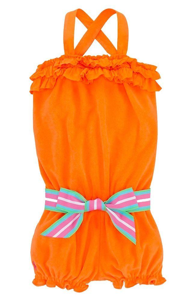 NWT Ralph Lauren Baby Girls Terry Cloth Sleeveless Belted Romper Size 24 Months #RalphLauren #Everyday