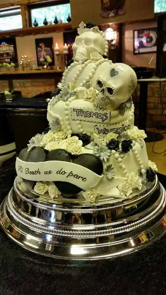 Amazing Skull Biker Wedding Cake