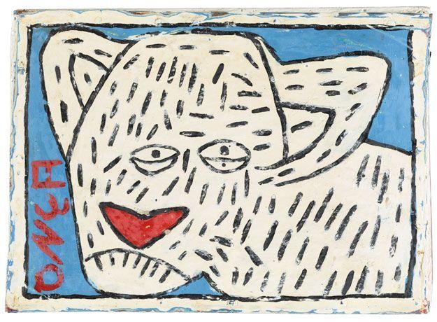 Antonio Roseno de Lima Onça, 1989 synthetic paint on paperboard fastened onto a plaster-reinforced wood frame 19.3 x 27 x 2.3 cm Photo : Arnaud Conne, Atelier de numérisation - Ville de Lausanne Collection de l'Art Brut, Lausanne ARL - Antonio Roseno de Lima