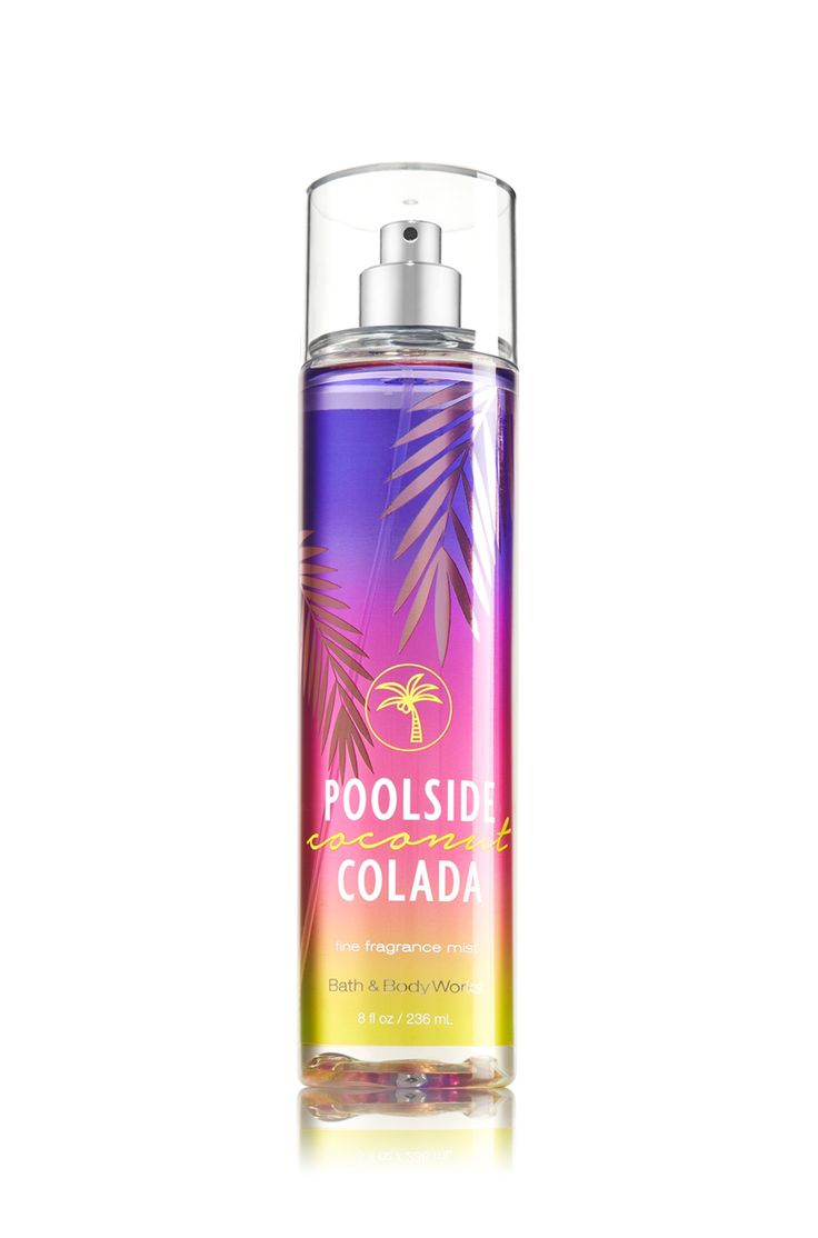 Nothing says summer like this misting spray!! Poolside Coconut Colada Fine Fragrance Mist - Signature Collection - Bath & Body Works