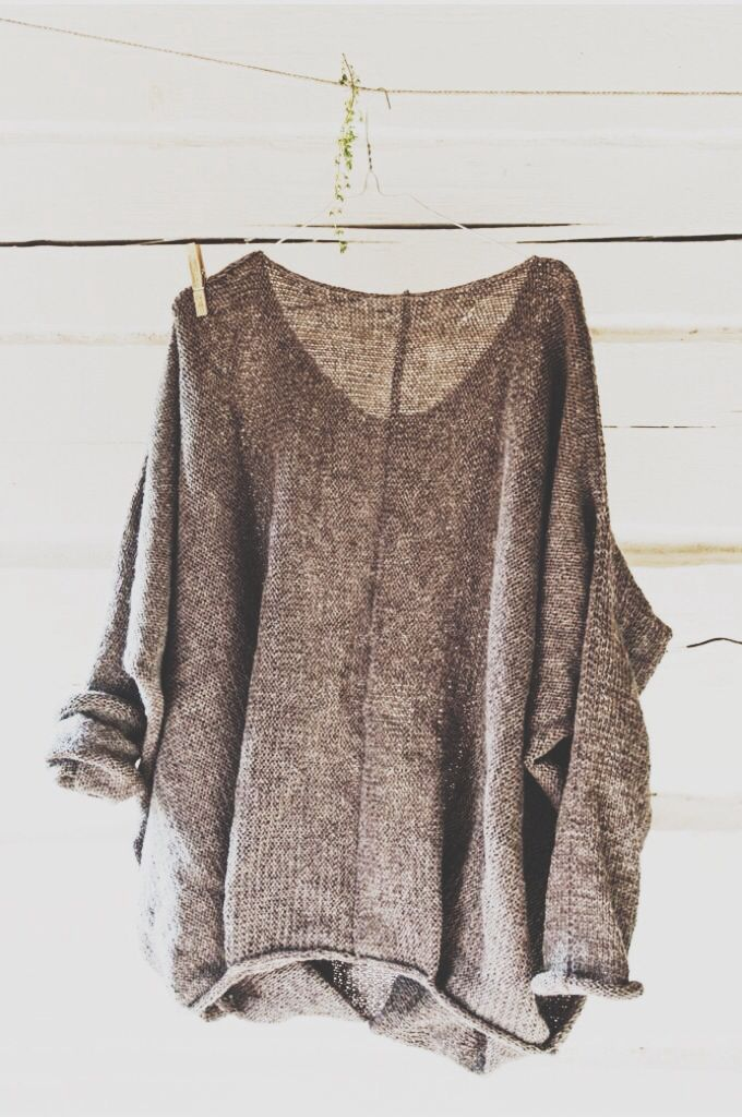 I like grey, oversized, and slouchy.