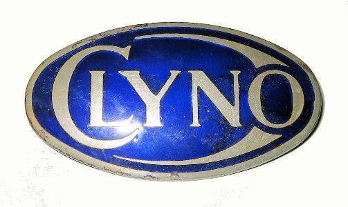 This rare large blue oval badge was fitted to the 1910s and 1920s Clyno cars for the 20 year life of the marque.  It measures approximately 3½ inches long. Clyno cars were built from 1910 to 1929 in Wolverhampton. At one point Clyno became Britain's third largest car manufacturer.