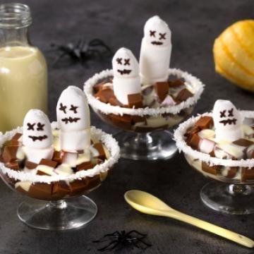 Oppskrift på Spooky sjokoladepudding