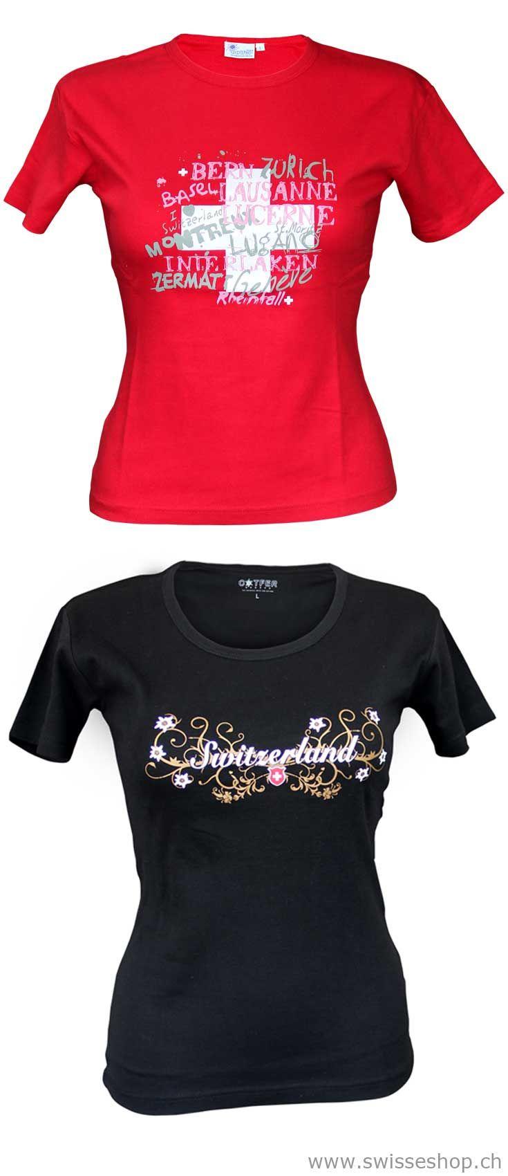 Schweizer Damen T-Shirts