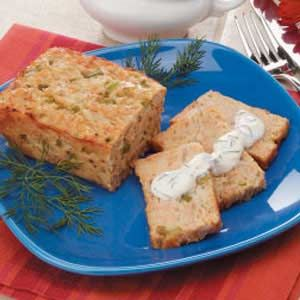 Mini Salmon Loaf Recipe - This is a great way to use up leftover salmon.