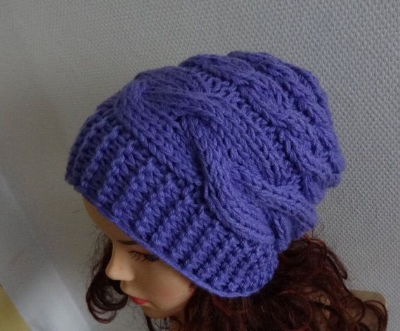 women slouchy  beanie hat  Slouch Beanie  Large hat  by Ifonka, $28.00