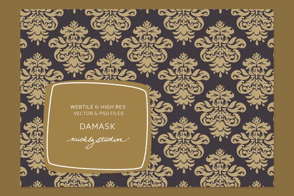 Check out VECTOR & PSD Damask tile & patterns by michLg studios on Creative Market