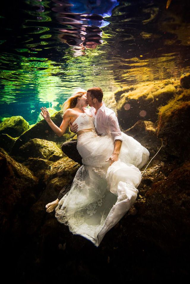 I'm NOT doing this because I love my dress, but some of these pics are like Little Mermaid! Beautiful!