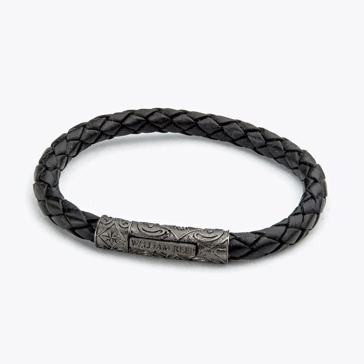 Davit – Schwarz by William Reep! #sterlingsilver #bracelet #leather