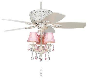 "Coastal 43"" Casa Deville Pretty in Pink Pull Chain Ceiling Fan eclectic ceiling fans"