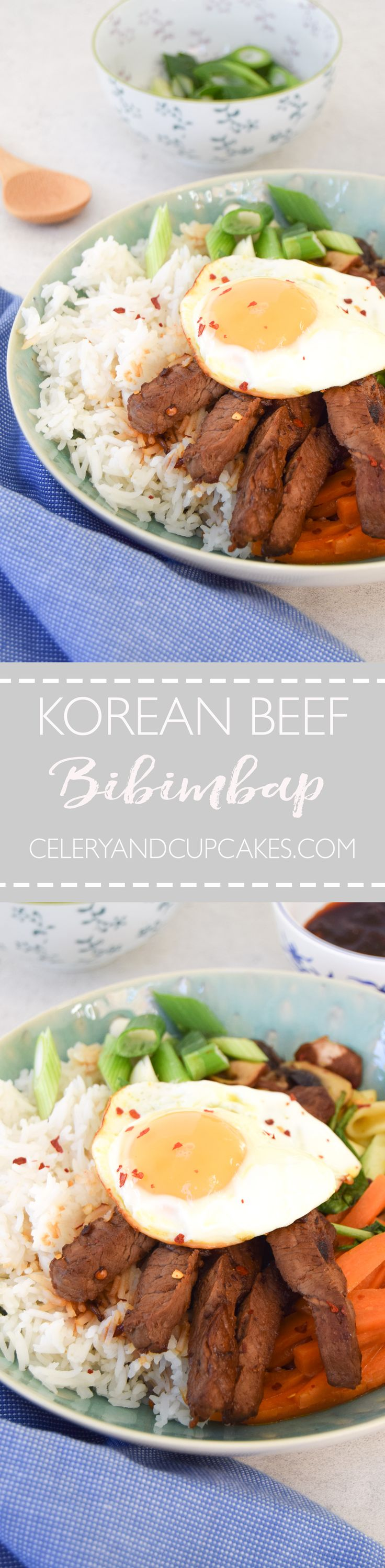 A popular Korean dish with lots of beautiful vegetables and protein.