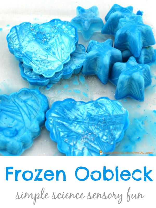 Frozen oobleck is cold and squishy, and it doubles the fun of normal oobleck. Give it a try and tell me what you think!
