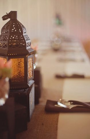 Rustic brown lanterns via glamour grace