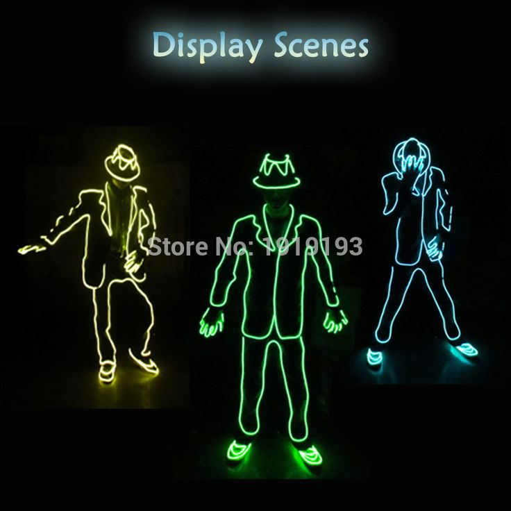 Vintage Jetzt zum Verkauf zu g nstigen Preisen kaufen Farbe Wahl der Stil von Mike Jackson DIY Glowing EL draht LED anz ge urlaub beleuchtung Kost m f r Ball