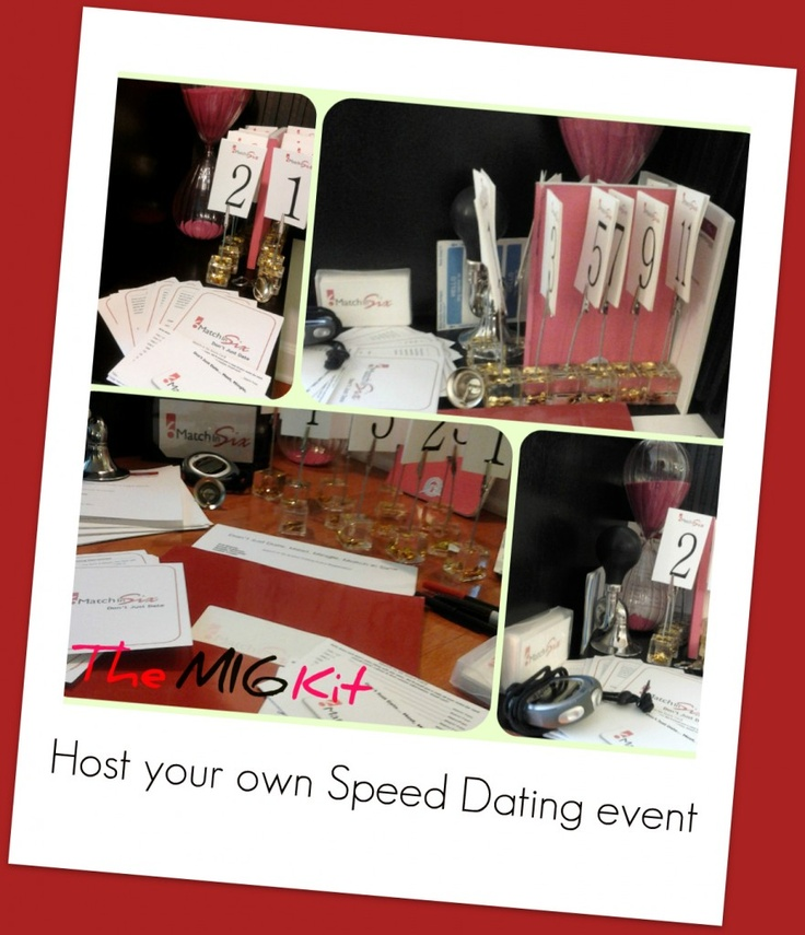 Speed Dating Kits --host your own event with the D-I-Y Match in Six Speed Dating Kit