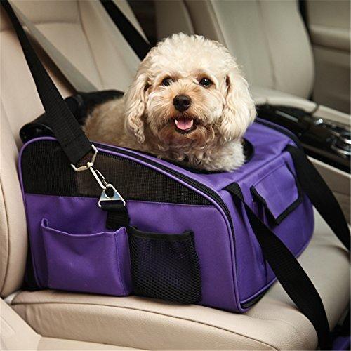 Oferta: 46.99€ Dto: -25%. Comprar Ofertas de Treat Me Mascotas Transportin Bolsa de Transportin perro gato mascota para Viajar llevar en coche o de mano Púrpura L barato. ¡Mira las ofertas!